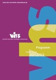 Programm Herbst / Winter - Volkshochschule Osterholz-Scharmbeck ...