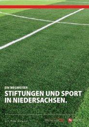 stiftungEn und sport in niEdErsachsEn. - Lotto-Sport-Stiftung