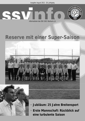 Reserve mit einer Super-Saison - SSV Stockum