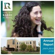 Annual Report - The Rashi School