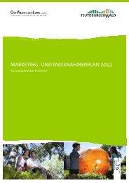 MARKETING- UND MASSNAHMENPLAN 2013 - Teutoburger Wald