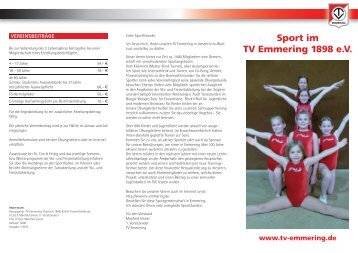 TV E-Flyer - Turnverein Emmering 1898 e. V.