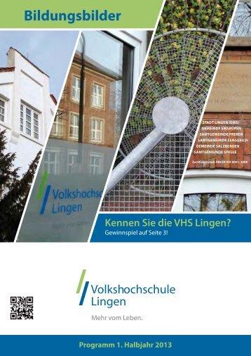 Anmeldung: 0591 91202-0 · Ansprechpartner - Volkshochschule ...