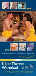Gesundheits- & Wellness-Angebote - Warmbad