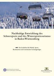 Nachhaltige Entwicklung des Schneesports - Physische Geographie ...