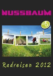 Radreisen 2012 - Nussbaum Reisen