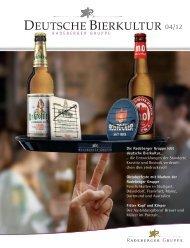 Deutsche Bierkultur 04/12 - Radeberger Gruppe KG