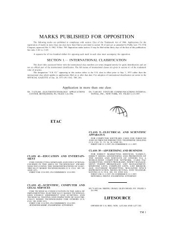 13 April 2004 - U.S. Patent and Trademark Office