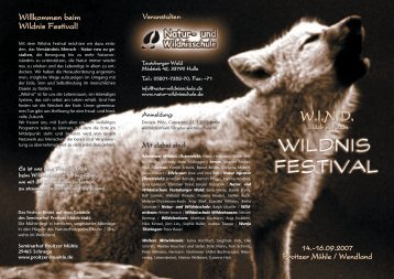 W.l.N.D. W.l.N.D. - Natur- und Wildnisschule Ralph Müller