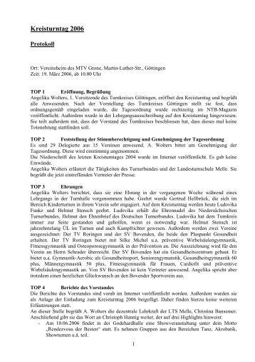 Kreisturntag 2006 - NTB
