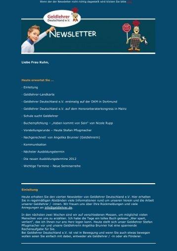 Geldlehrer-Landkarte - Geldlehrer Deutschland eV