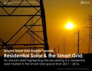 Residential Solar & the Smart Grid: - Smart Grid Insights by Zpryme