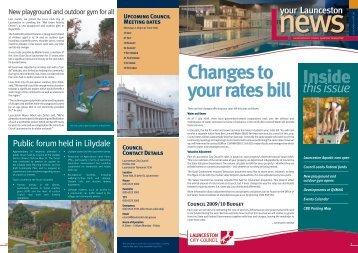Changes to your rates bill - Launceston City Council