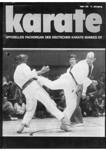 DKB-Fachorgan Nr. 1 - Chronik des Karate