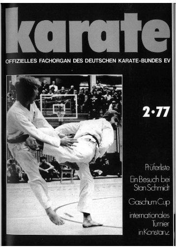 DKB-Fachorgan Nr. 2 - Chronik des Karate