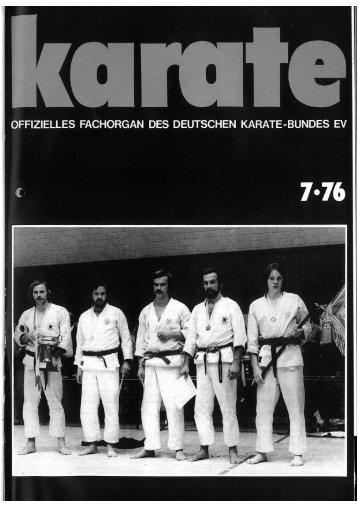 DKB-Fachorgan Nr. 7 - Chronik des Karate
