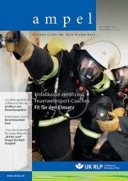 Ampel-Ausgabe 36, Dezember 2010 - Unfallkasse Rheinland-Pfalz