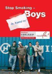 Stop smoking Boys (PDF, 1.300 KB) - rauch-frei.info