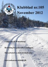 Klubblad 105 November 2012 - Aabenraa Skiklub