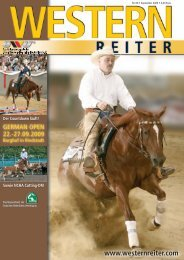 GERMAN OPEN 22.-27.09.2009 - Erste Westernreiter Union ...