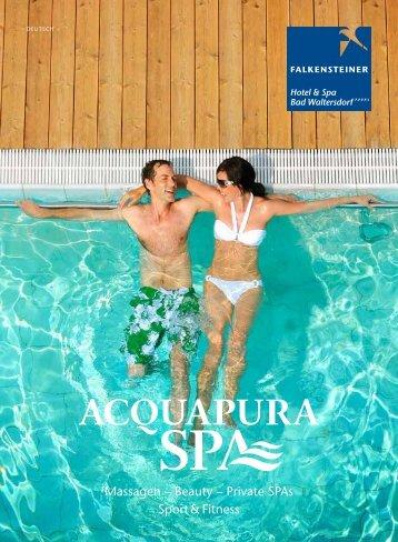 Massagen – Beauty – Private sPAs sport & Fitness - Falkensteiner