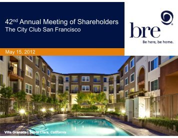 BRE Properties Annual Meeting of Shareholders ... - SNL Financial