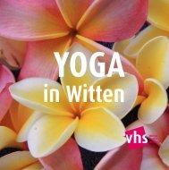 Yoga - Volkshochschule Witten-Wetter-Herdecke