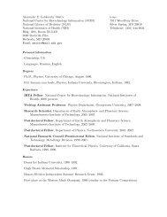 Alexander Lobkovsky's Curriculum Vitae - National Center for ...