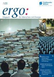 105 ergo: Magazin für Menschen mit Energie - EWMR