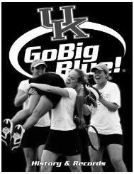 2005 Women€ TM s Tennis ISTORY - University of Kentucky Athletics