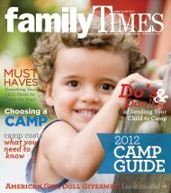 ymca Day camP - Family Times Magazine