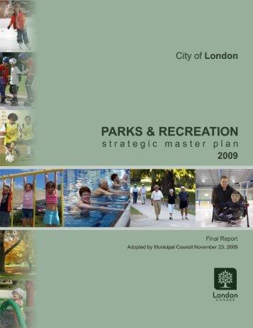 Parks & Recreation Strategic Master Plan - City of London