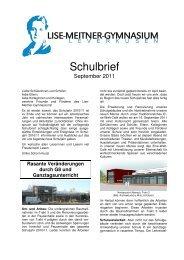 Schulbrief 2011-12 - Lise-Meitner-Gymnasium