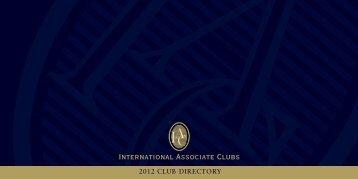 2012 CLUB DIRECTORY - International Associate Clubs