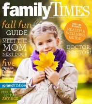 November 3 (grades PreK-8) November 10 - Family Times Magazine