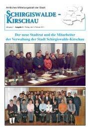 SCHIRGISWALDE - KIRSCHAU - Crostau