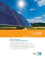 Solar Connectivity for Harsh Outdoor Environments - TE Connectivity