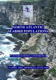 NORTH ATLANTIC SEABIRD POPULATIONS - The Seabird Group
