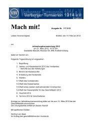 Mach mit! Ausgabe Nr. 117-3/12 - Verberger Turnverein 1914 eV