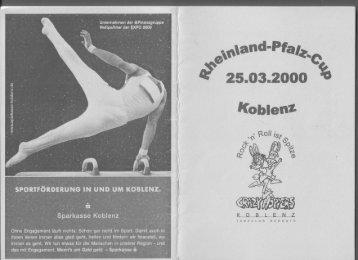 Programmheft Rheinland-Pfalz-Cup Rock'n'Roll 2000 - 1.TGC ...