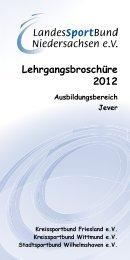 Lehrgangsbroschüre 2012 - Stadtsportbund Wilhelmshaven e.V.