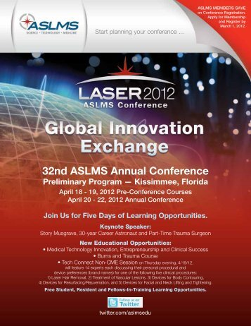32nd ASLMS Annual Conference - American Society for Laser ...