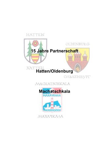 15 Jahre Partnerschaft Hatten/Oldenburg ... - Gemeinde Hatten