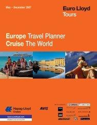 Europe Travel Planner Cruise The World - Euro Lloyd Travel