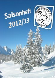 Programmheft für die Saison 2012/2013 - Walldorfer Ski-Club 81 eV