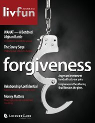 Autumn 2012 issue of LIV FUN Magazine - Wise Publishing Group