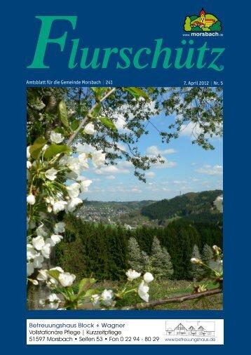 Amtsblatt für die Gemeinde Morsbach | 241 7. April 2012 | Nr. 5