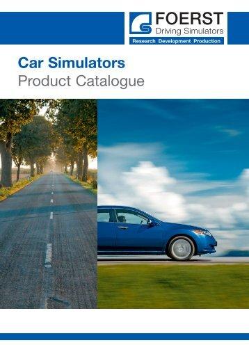 Car Simulators Product Catalogue