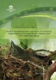 Genetic and demographic signatures of population fragmentation in ...