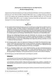 Satzung über die Straßenreinigung in der Stadt Iserlohn ...